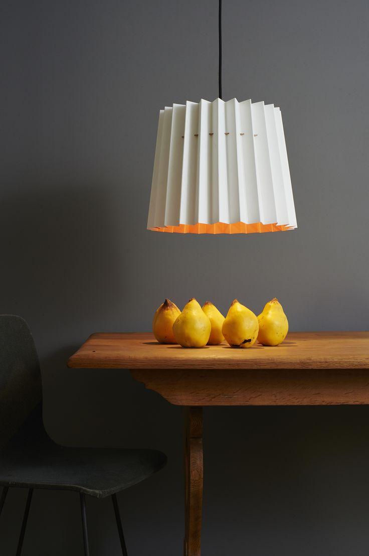 Loft White and Orange Aurora Twin Tone Lampshade - collaboration with Little Greene paint company £65