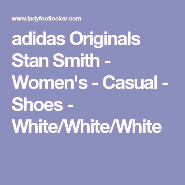 adidas Originals Stan Smith - Women's - Casual - Shoes - White/White/White