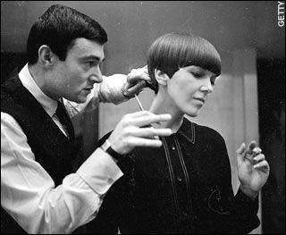 Mary Quant rockin' the Vidal Sassoon haircut.