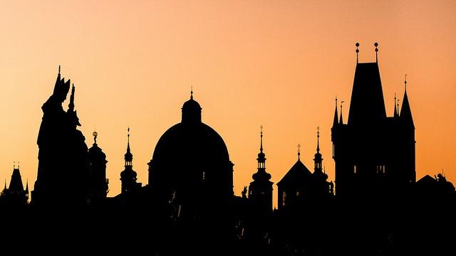Prag   Altstadt-Silhouette by Philipp Götze, via Flickr