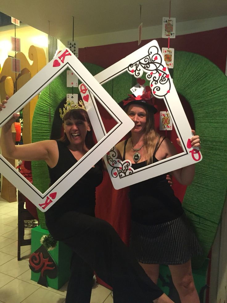 "My own props: red queen ""unbirthday "" photo booth"