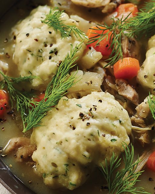 Chicken and Dumplings by Tiffani Thiessen - The homey recipe that is perfect for a weeknight dinner
