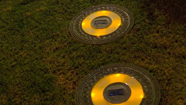 #Solar stepping stones. Create a clear walkway through your garden. Lights are recharged by the sun, so no electricity is required. #green