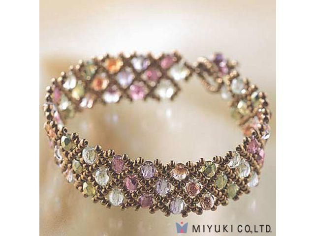 Miyuki Net Pattern Bracelet Kit
