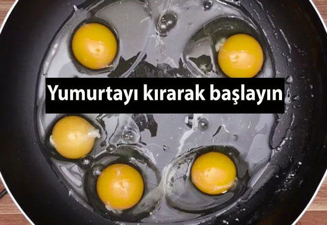 Kolay yumurta pişirme yöntemi