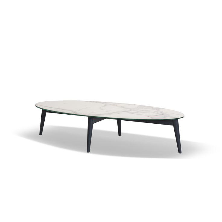paros 25 24lk table basse ovale en cramique sur verre - Pied Pour Table Basse En Verre