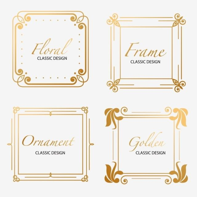 Golden Luxury Ornament Frames Floral Decor Banner Png And Vector With Transparent Background For Free Download In 2020 Ornament Frame Birthday Photo Frame Gold Circle Frames