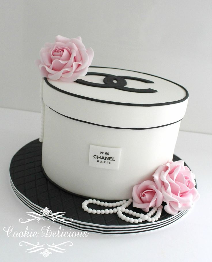 Chanel Hatbox Birthday Cake