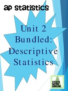 This contains all of the lessons in the Descriptive Statistics Unit for AP Statistics. There are 14 lessons: -Analyzing Categorical Data (lesson 1) -Displaying Quantitative Data (lesson 2) -Using numbers to describe Quantitative Data (lesson 3) -Using numbers to describe Quantitative Data #2 (lesson 4) -Describing Locations in a Distribution (lesson 5) -Transforming Data (lesson 6) -Normal Distributions part 1 (lesson 7) -Normal Distributions part 3: Standardized Normal Distributions (lesson…