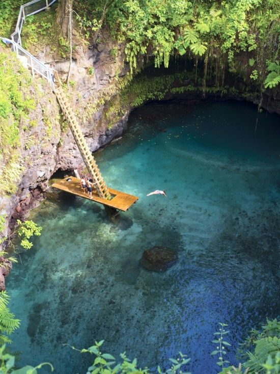 The hidden lake: To Sua Ocean Trench in Lotofaga village, Samoa