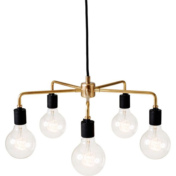 retro lighting. menu as tribeca leonard chandelier 620 liked on polyvore featuring home retro lighting