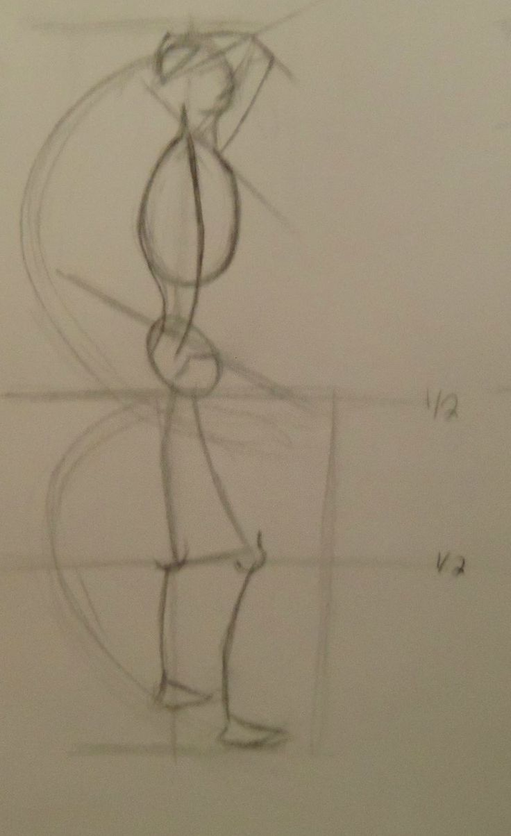 Week 1: Gesture Drawing Assignment   # 2  Done with 6B and 7B graphite pencils. 2 1/2 minutes