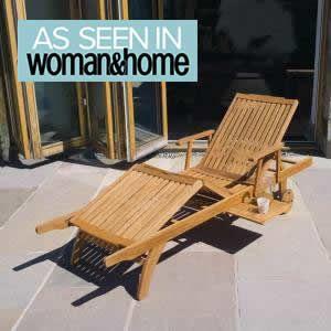 Wooden Sun lounger | £139.99