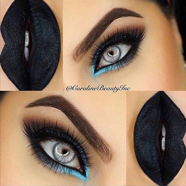 10 Inspirações de Make para usar com batom preto - http://www.pausaparafeminices.com/maquiagem/10-inspiracoes-de-make-para-usar-com-batom-preto/