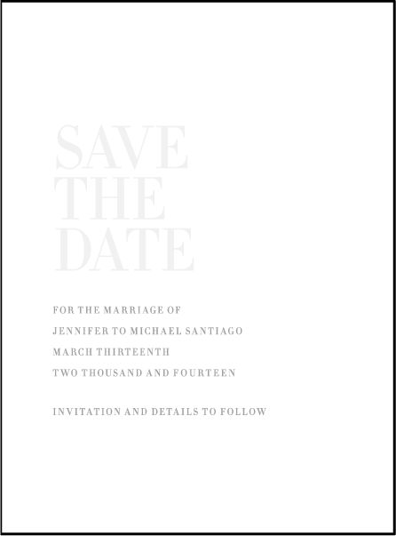 Letterpress Wedding Save the dates | Irving Design | Bella Figura Letterpress