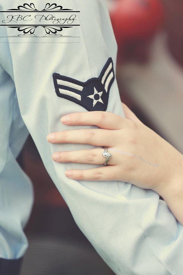 Ring shot idea, military, wedding, ring, engagement, air force, military, JBC