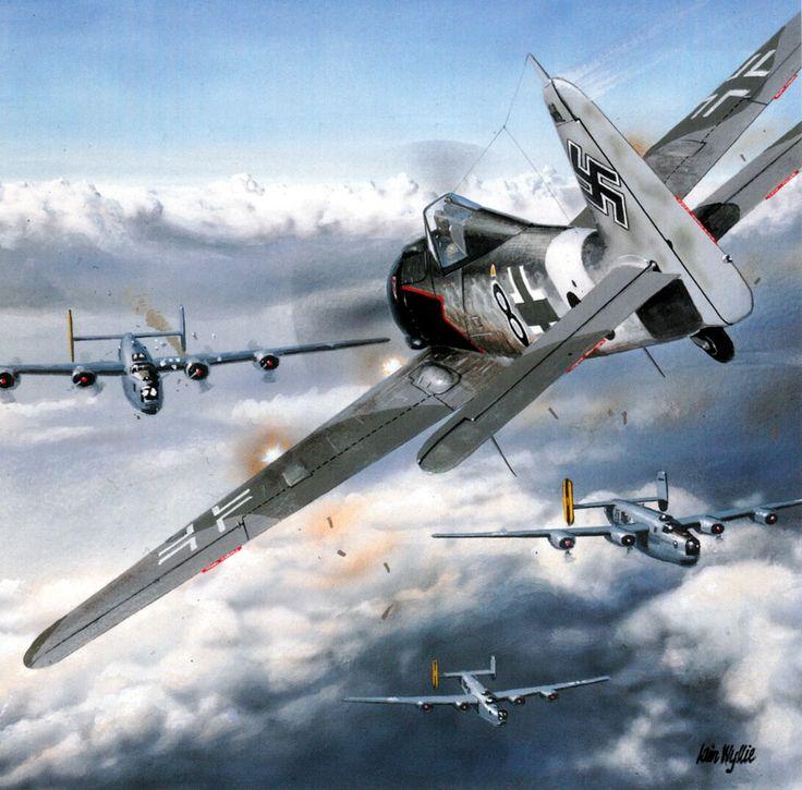 1944 Fw 190A-8R-8 Sturmbock Unteroffizier Willi Maximowitz IV Sturm JG 3- Iain Wylie