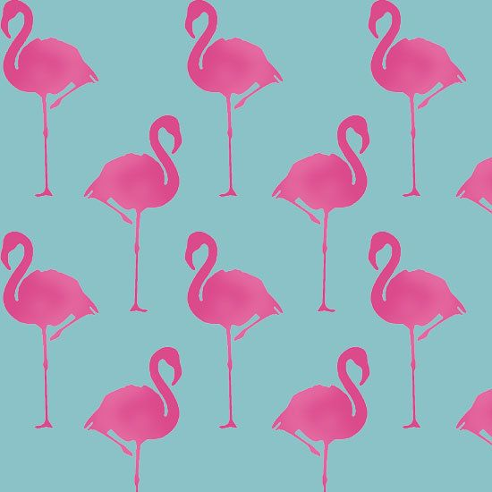 Flamingo stencil, Flamingo art decor, animal stencil, animal décor, painting stencil, wall stencil, paint flamingo wallpaper, ideal stencils
