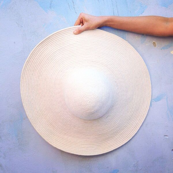 Wide brimmed hat by Oliver Owen