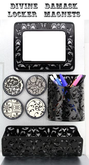 iLoveToCreate Teen Crafts: Divine Damask Locker Magnets