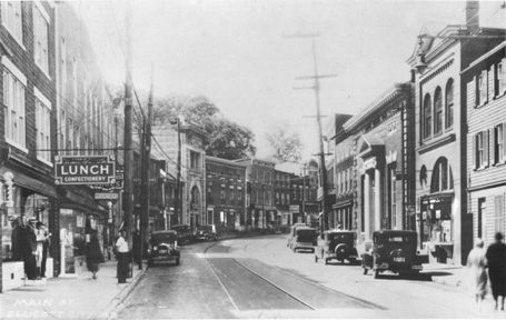 Ellicott City is the seat of Howard County government and its principal banking and trading center. Main Street follows a narrow ravine, and some buildings on the south side are constructed over the Tiber Creek. Many of the older homes and stores are made of local granite.