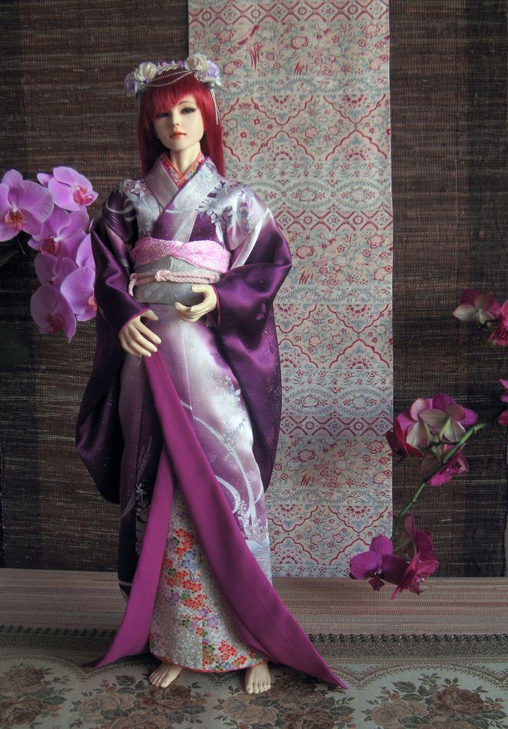 BJD kimono, Ready for Go by InarisansCrafts