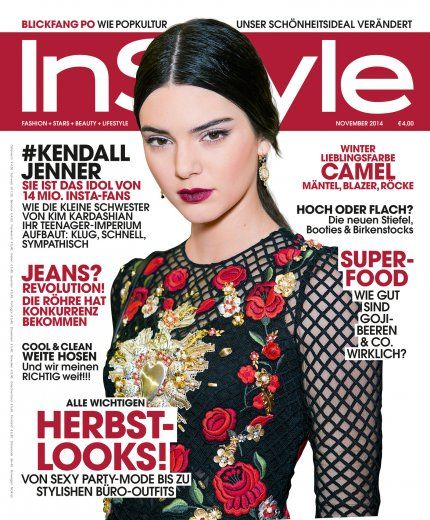 InStyle November 2014 mit Coverstar Kendall Jenner