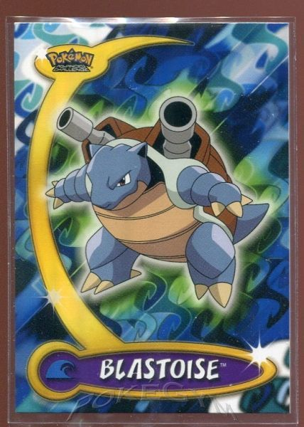 #008 Blastoise - Topps Pokemon Cards - Pokemon Advanced Challenge Trading Cards - $