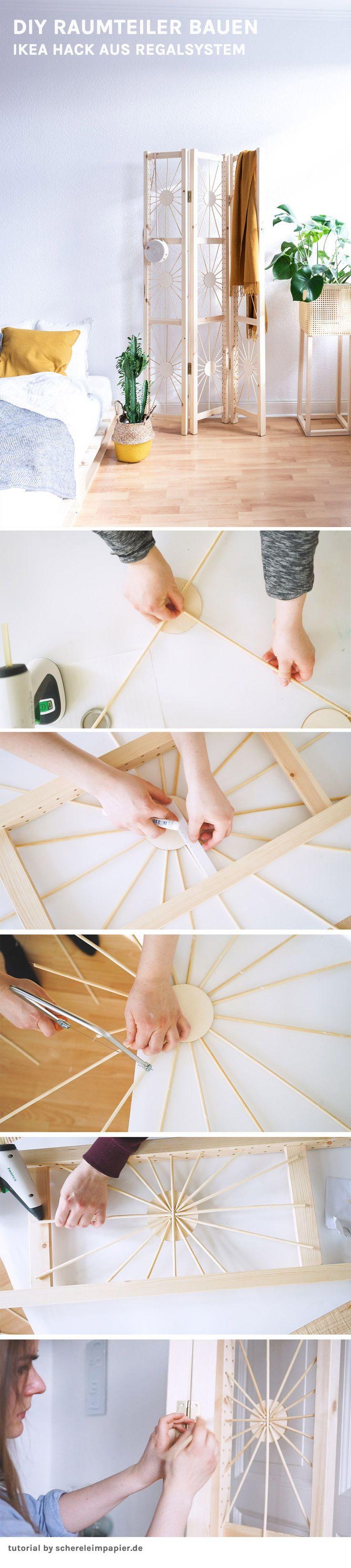Paravent selber bauen – mein DIY Raumteiler im Ethno Design schere leim papier – DIY, Upcycling, Deko, Wohnen & Pflanzen