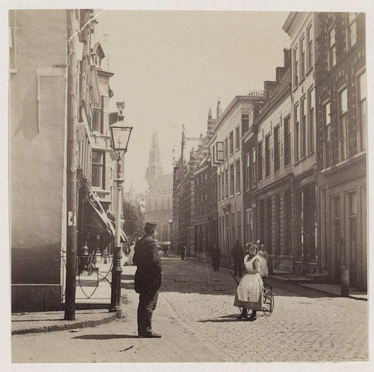 Zijlstraat hoek Nassaulaan.               Foto 1900                                Fotograaf: Anoniem