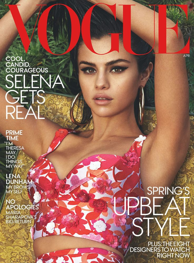 Selena Gomez in Michael Kors Collection bralette and skirt and Jennifer Fisher earrings.