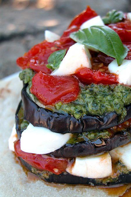 Parmigiana di Melanzane Senza Forno (No Bake Eggplant Parmigiana)