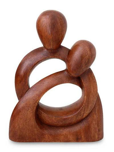 """'Eternity of Love'  I love love love all of the Balinese carved """"love"""" and """"heart"""" wood sculpture.  I think this will be what I start collecting... hmmm...."""