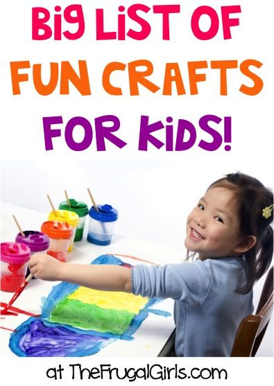 BIG List of Fun Crafts for Kids! ~ from TheFrugalGirls.com ~ your little ones will love these easy, creative craft projects, ideas and activities!