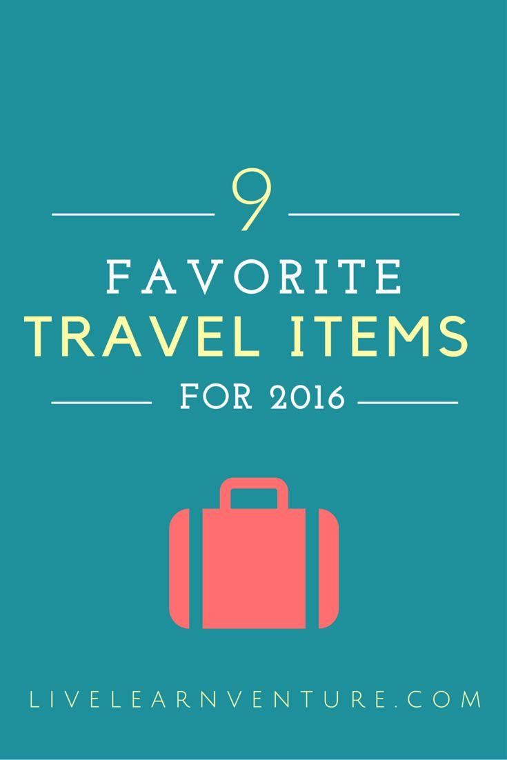 9 Favorite Travel Items for 2016! #travel #traveltips #travelitems