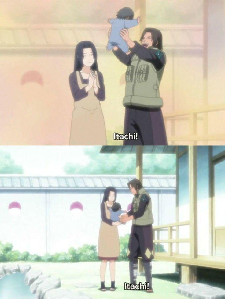 Baby Itachi Uchiha and his parents, Mikoto and Fugaku ♥♥♥ #Memories #Family #Love #Masacre #Suffering