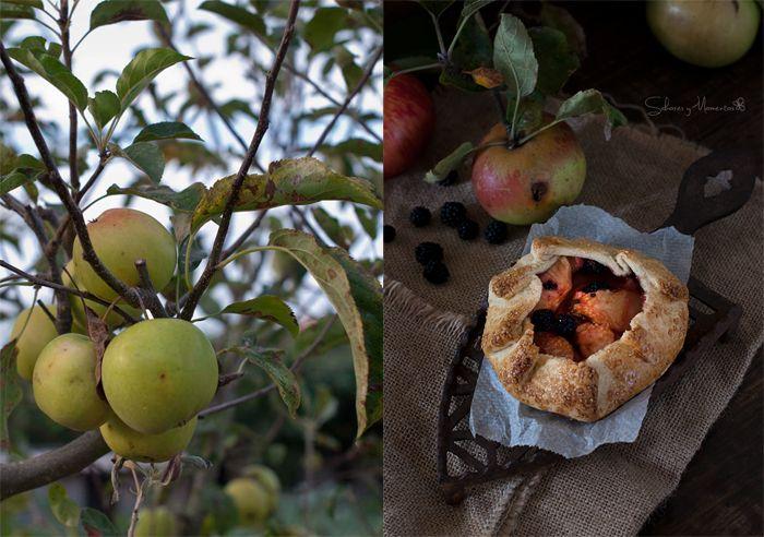 Galette de Manzanas y Moras Silvestres {Receta de Temporada} | Apples and Blackberries Galette {Seasonal Recipe} http://saboresymomentos.es