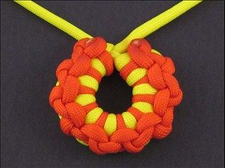 Ashoka Chakra Knot two color (this website has videos on how to make nearly any knot) ...(unusual knots..not your boy scout knots)