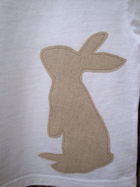 Bunny+Rabbit+Silhouette+Applique+Shirt+12+month+by+lovelandavenue,+$11.00