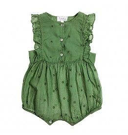 Tocoto Vintage Tocoto Vintage Onepiece | green romper for girls | kids style