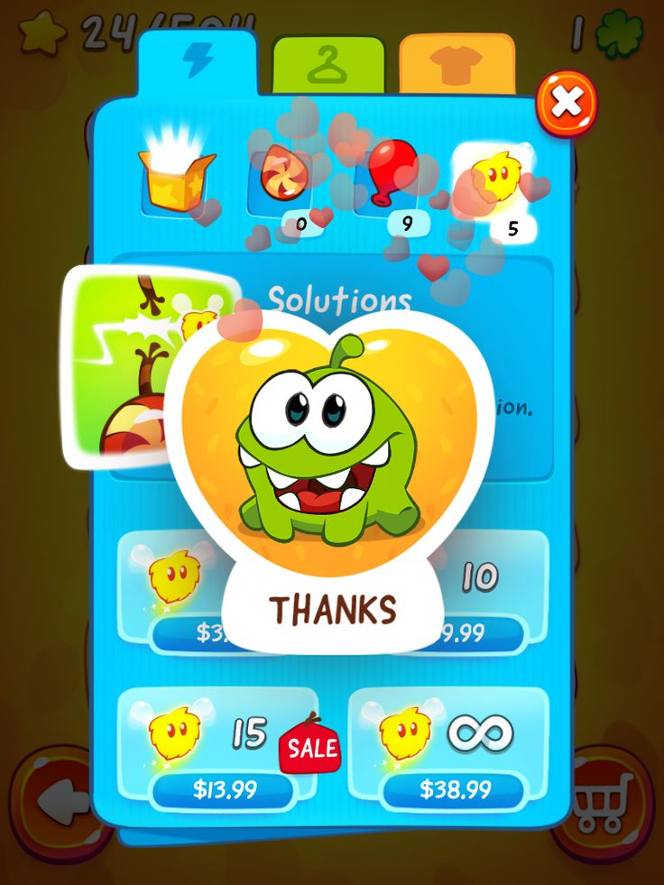 CUT the ROPE 2 | IAP Store Purchase Confirmation | UI, HUD, User Interface, Game Art, GUI, iOS, Apps, Games, Grahic Desgin, Puzzle Game, Brain Games, Zeptolab | www.girlvsgui.com