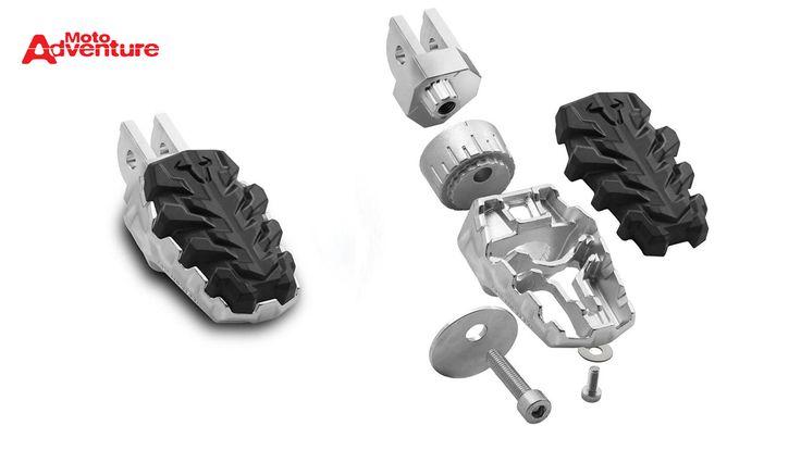 Acessório garante mais segurança e conforto na pilotagem - Revista Moto Adventure - Showroom: Pedaleiras articuladas EVO Footrest da SW-Motech
