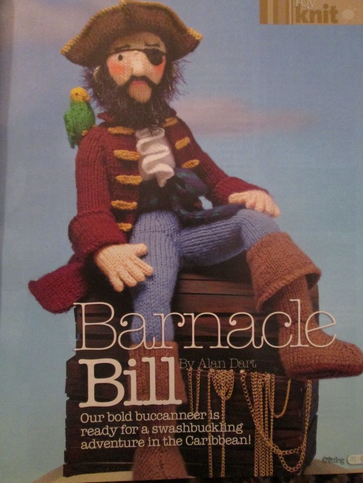 SIMPLY KNITTING MAGAZINE ALAN DART BARNACLE BILL KNITTING ...