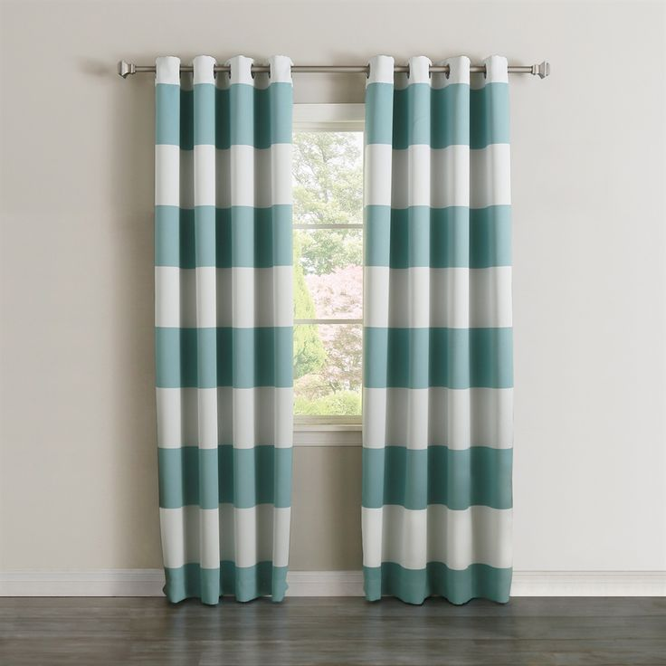 Shop Best Home Fashion  BG-73-HSTRIPE Cabana Stripe Room Darkening Curtain Panel (Set of 2) at ATG Stores. Browse our curtains & drapes, all with free shipping and best price guaranteed.