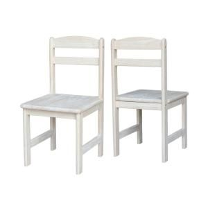 International Concepts Unfinished Wood Kids Chair (Set of 2)-CC-27P - The Home Depot