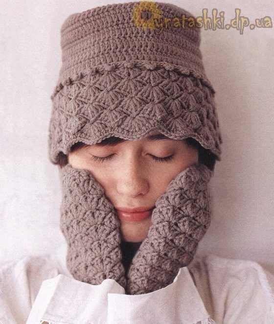 Women's cap crochet