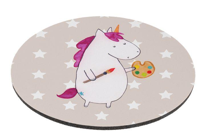 Mauspad rund Einhorn Künstler aus Naturkautschuk  black - Das Original von Mr. & Mrs. Panda.  Ein wunderschönes rundes Mouse Pad der Marke Mr. & Mrs. Panda. Alle Motive werden liebevoll gestaltet und in unserer Manufaktur in Norddeutschland per Hand auf die Mouse Pads aufgebracht.    Über unser Motiv Einhorn Künstler  Das Künstler-Einhorn ist das perfekte Geschenk für kreative Menschen. Wer würde sich seine Welt nicht gerne nach seinem Geschmack malen? Das Einhorn macht es vor, wir müssen…