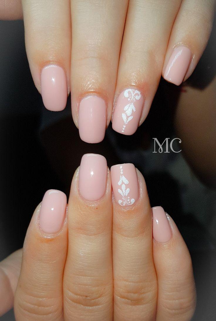 Weding nails #gellack # sandeffect