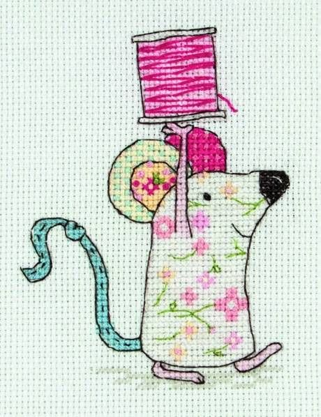 image of Mousey The Mouse Cross Stitch Kit