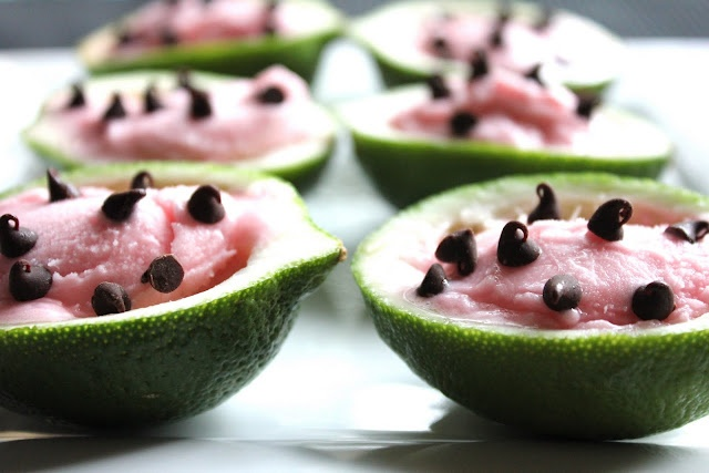 Watermelon Sherbet Cups